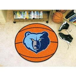 "Click here to learn more about the Memphis Grizzlies Basketball Mat 27"" diameter."