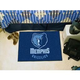 "Click here to learn more about the Memphis Grizzlies Starter Rug 19"" x 30""."