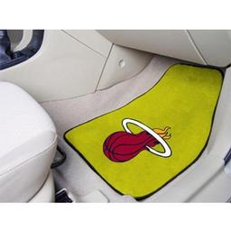 "Click here to learn more about the Miami Heat 2-piece Carpeted Car Mats 17""x27""."