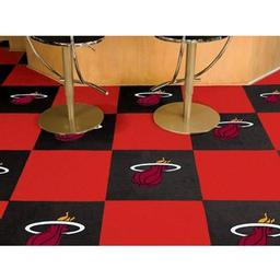 "Click here to learn more about the Miami Heat Carpet Tiles 18""x18"" tiles."
