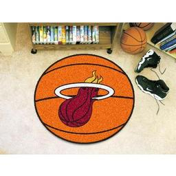 "Click here to learn more about the Miami Heat Basketball Mat 27"" diameter."