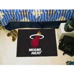 "Click here to learn more about the Miami Heat Starter Rug 19"" x 30""."