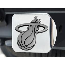 "Click here to learn more about the Miami Heat Hitch Cover 4 1/2""x3 3/8""."