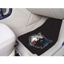 "Click here to learn more about the Minnesota Timberwolves 2-piece Carpeted Car Mats 17""x27""."