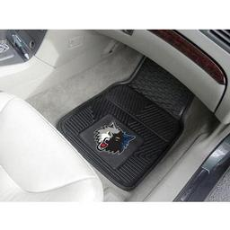 "Click here to learn more about the Minnesota Timberwolves Heavy Duty 2-Piece Vinyl Car Mats 17""x27""."