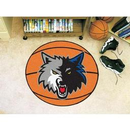 "Click here to learn more about the Minnesota Timberwolves Basketball Mat 27"" diameter."
