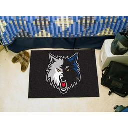 "Click here to learn more about the Minnesota Timberwolves Starter Rug 19"" x 30""."