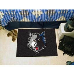 "Click here to learn more about the Minnesota Timberwolves Uniform Inspired Starter Rug 19""x30""."