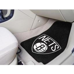 "Click here to learn more about the Brooklyn Nets 2-piece Carpeted Car Mats 17""x27""."