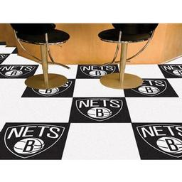 "Click here to learn more about the Brooklyn Nets Carpet Tiles 18""x18"" tiles."