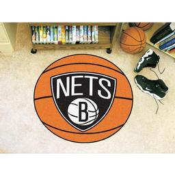 "Click here to learn more about the Brooklyn Nets Basketball Mat 27"" diameter."