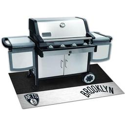 "Click here to learn more about the Brooklyn Nets Grill Mat 26""x42""."