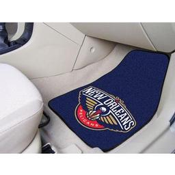 "Click here to learn more about the New Orleans Pelicans 2-piece Carpeted Car Mats 17""x27""."