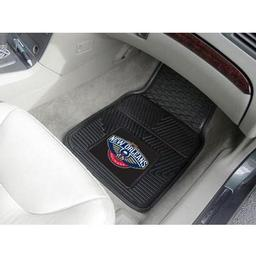 "Click here to learn more about the New Orleans Pelicans Heavy Duty 2-Piece Vinyl Car Mats 17""x27""."