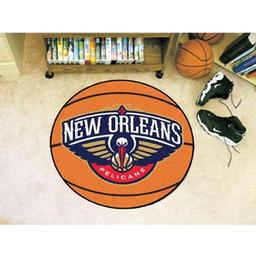 "Click here to learn more about the New Orleans Pelicans Basketball Mat 27"" diameter."