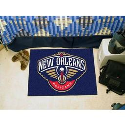 "Click here to learn more about the New Orleans Pelicans Starter Rug 19"" x 30""."