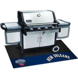 "Click here to learn more about the New Orleans Pelicans Grill Mat 26""x42""."