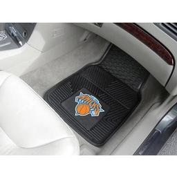 "Click here to learn more about the New York Knicks Heavy Duty 2-Piece Vinyl Car Mats 17""x27""."