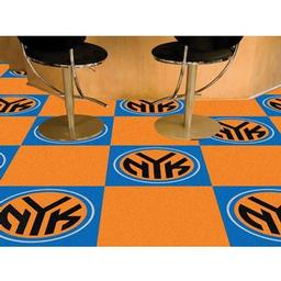 "Click here to learn more about the New York Knicks Carpet Tiles 18""x18"" tiles."