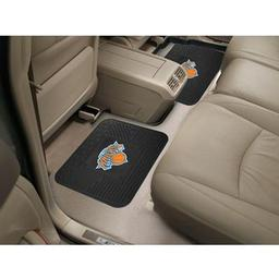 "Click here to learn more about the New York Knicks Backseat Utility Mats 2 Pack 14""x17""."