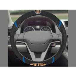 "Click here to learn more about the New York Knicks Steering Wheel Cover 15""x15""."