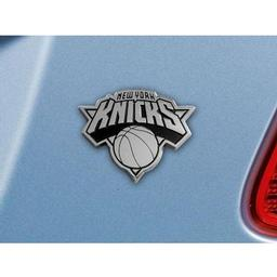 "Click here to learn more about the New York Knicks Emblem 2.6""x3.2""."