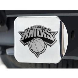 "Click here to learn more about the w York Knicks Hitch Cover 4 1/2""x3 3/8""."