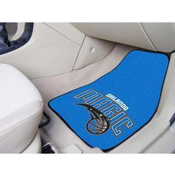 "Click here to learn more about the Orlando Magic 2-piece Carpeted Car Mats 17""x27""."