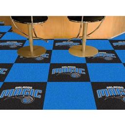"Click here to learn more about the Orlando Magic Carpet Tiles 18""x18"" tiles."