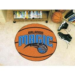 "Click here to learn more about the Orlando Magic Basketball Mat 27"" diameter."