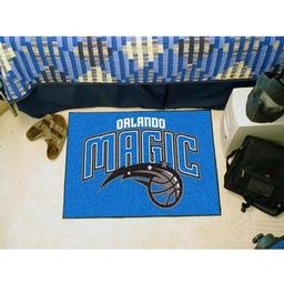 "Click here to learn more about the Orlando Magic Starter Rug 19"" x 30""."