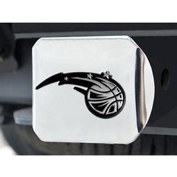"Click here to learn more about the Orlando Magic Hitch Cover 4 1/2""x3 3/8""."