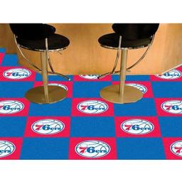 "Click here to learn more about the Philadelphia 76ers Carpet Tiles 18""x18"" tiles."