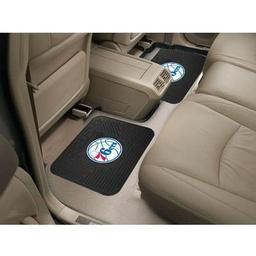 "Click here to learn more about the Philadelphia 76ers Backseat Utility Mats 2 Pack 14""x17""."