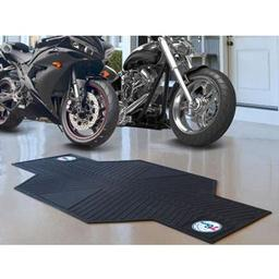 "Click here to learn more about the Philadelphia 76ers Motorcycle Mat 82.5"" L x 42"" W."