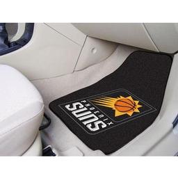 "Click here to learn more about the Phoenix Suns 2-piece Carpeted Car Mats 17""x27""."