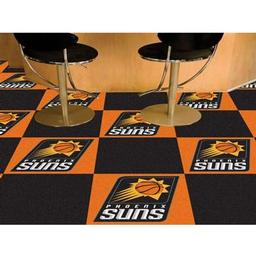 "Click here to learn more about the Phoenix Suns Carpet Tiles 18""x18"" tiles."