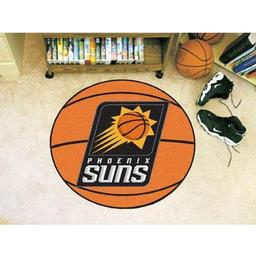 "Click here to learn more about the Phoenix Suns Basketball Mat 27"" diameter."