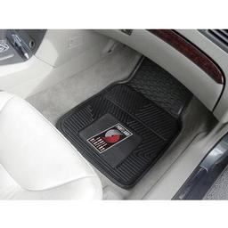 "Click here to learn more about the Portland Trail Blazers Heavy Duty 2-Piece Vinyl Car Mats 17""x27""."
