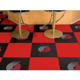 "Click here to learn more about the Portland Trail Blazers Carpet Tiles 18""x18"" tiles."