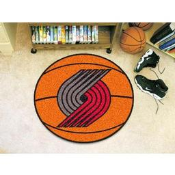 "Click here to learn more about the Portland Trail Blazers Basketball Mat 27"" diameter."