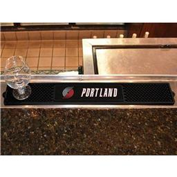 "Click here to learn more about the Portland Trail Blazers Drink Mat 3.25""x24""."