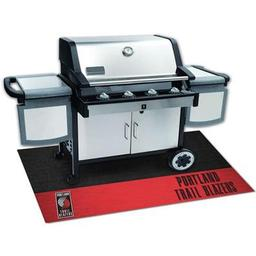 "Click here to learn more about the Portland Trail Blazers Grill Mat 26""x42""."