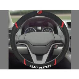"Click here to learn more about the Portland Trail Blazers Steering Wheel Cover 15""x15""."