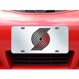 "Click here to learn more about the Portland Trail Blazers License Plate Inlaid 6""x12""."