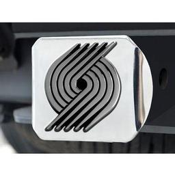 "Click here to learn more about the Portland Trail Blazers Hitch Cover 4 1/2""x3 3/8""."