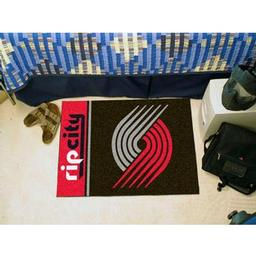 "Click here to learn more about the Portland Trail Blazers Uniform Inspired Starter Rug 19""x30""."