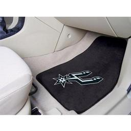 "Click here to learn more about the San Antonio Spurs 2-piece Carpeted Car Mats 17""x27""."