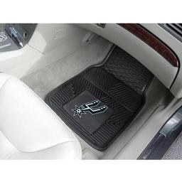 "Click here to learn more about the San Antonio Spurs Heavy Duty 2-Piece Vinyl Car Mats 17""x27""."