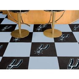 "Click here to learn more about the San Antonio Spurs Carpet Tiles 18""x18"" tiles."